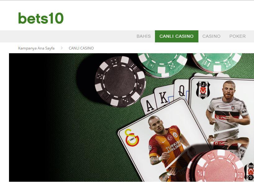 Bets10 Canlı Casinoda Çok Özel Bonus Fırsatları