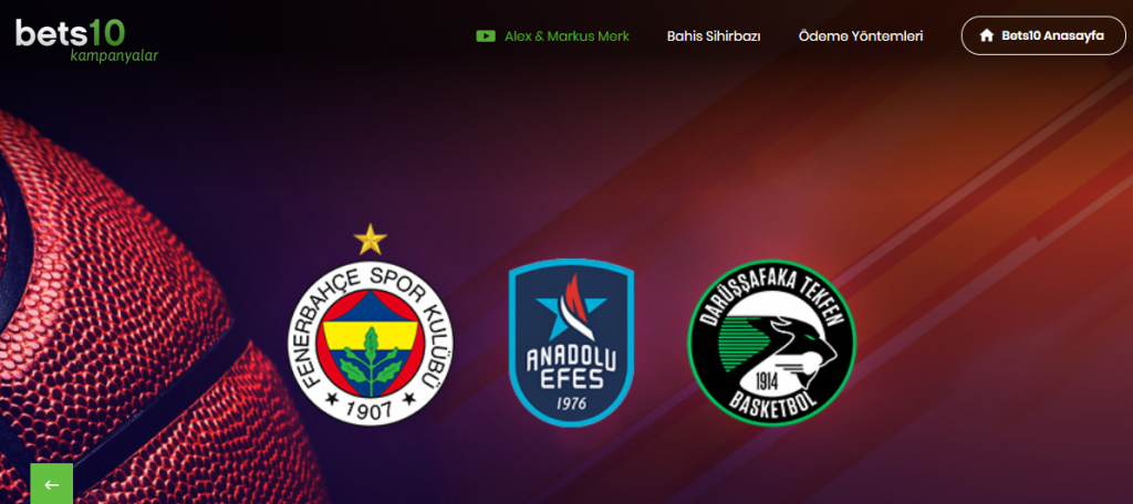 Bets10 Euroleague'de 200 TL Bonus